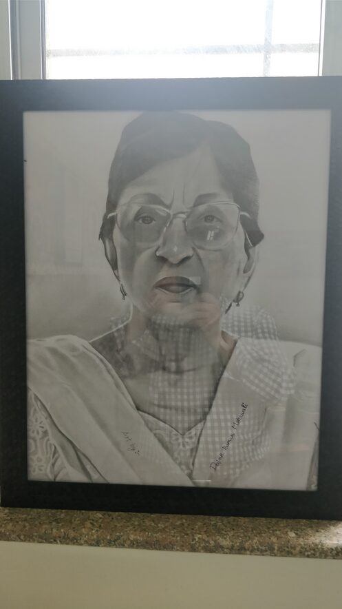 Sketch of our Director Mam done by one of Our Student